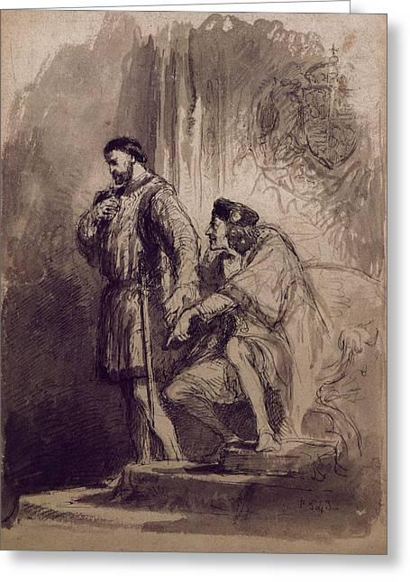 Richard IIi Greeting Card by Sir John Gilbert