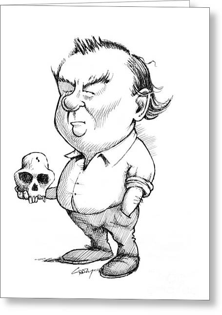Conservationist Greeting Cards - Richard Leakey, Paleoanthropologist Greeting Card by Gary Brown