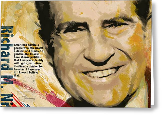 Richard Nixon Greeting Card by Corporate Art Task Force