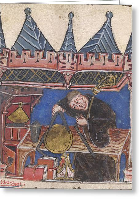 Monk-religious Occupation Greeting Cards - Richard Of Wallingford Greeting Card by British Library