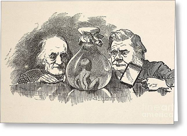 Wilberforce Greeting Cards - Richard Owen & T.h. Huxley Greeting Card by Paul D. Stewart
