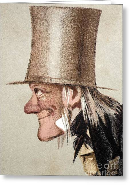 Moa Greeting Cards - Richard Owen Caricatured In Vanity Fair Greeting Card by Paul D. Stewart