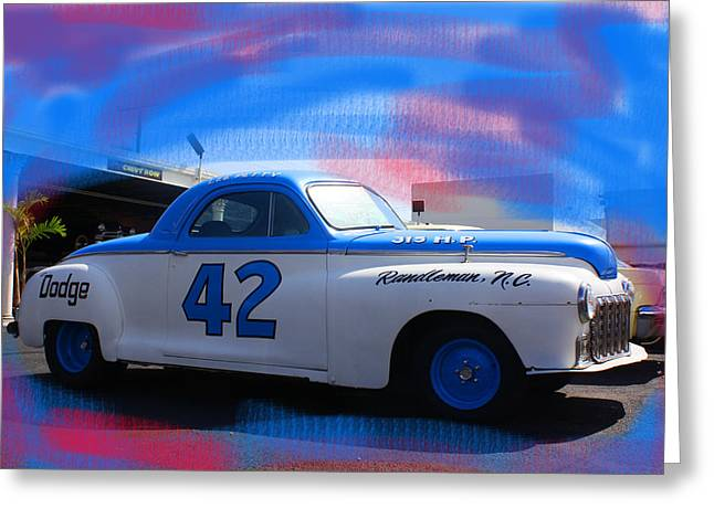 Fin Pyrography Greeting Cards - Richard Petty nascar Greeting Card by Doug Walker
