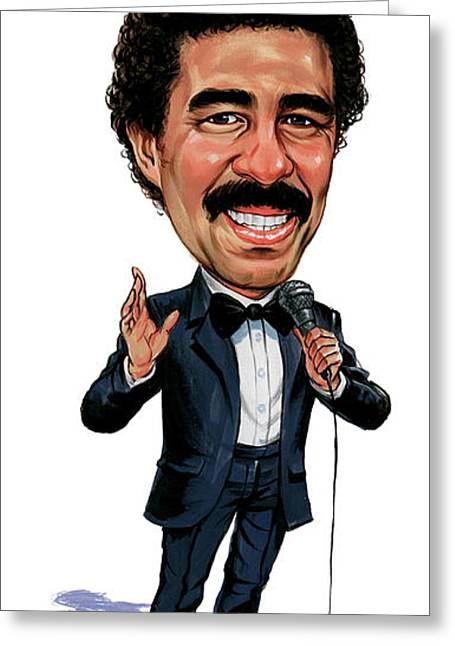 Great Paintings Greeting Cards - Richard Pryor Greeting Card by Art