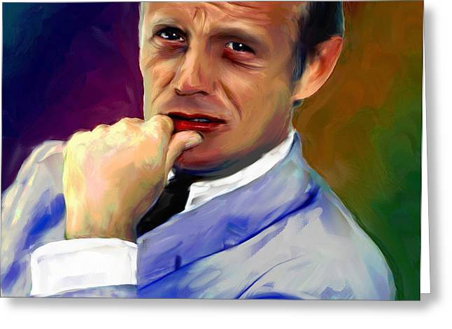 Richard Widmark Greeting Card by Allen Glass