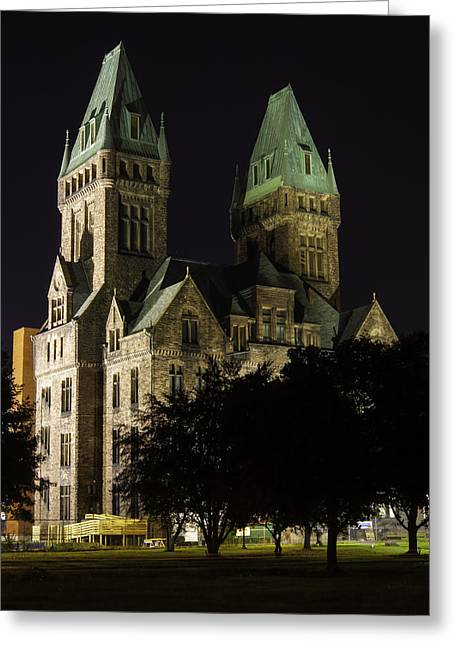Psychiatric Greeting Cards - Richardson Olmsted Complex From The Lawn Greeting Card by Don Nieman