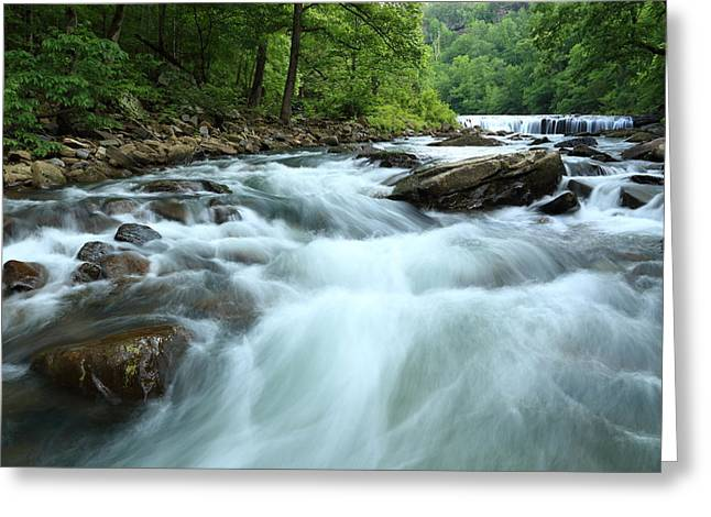 Richland Creek Greeting Cards - Richland Creek Falls No.3 - MP0024 Greeting Card by Matthew Parks