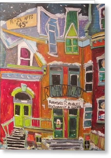 Litvack Greeting Cards - Richmond Apt.Montreal Memories Greeting Card by Michael Litvack
