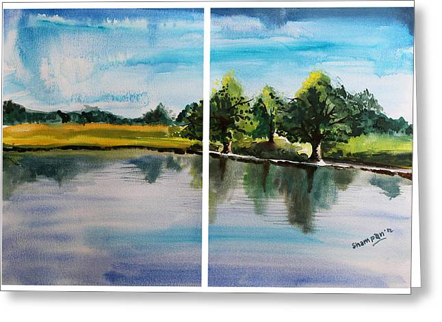 Shakhenabat Kasana Greeting Cards - Richmond Park Greeting Card by Shakhenabat Kasana