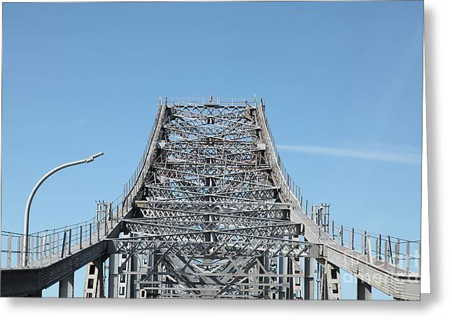 Richmond Bridge Greeting Cards - Richmond-San Rafael Bridge in California - 5D21449 Greeting Card by Wingsdomain Art and Photography