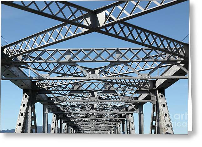 Richmond Bridge Greeting Cards - Richmond-San Rafael Bridge in California - 5D21454 Greeting Card by Wingsdomain Art and Photography