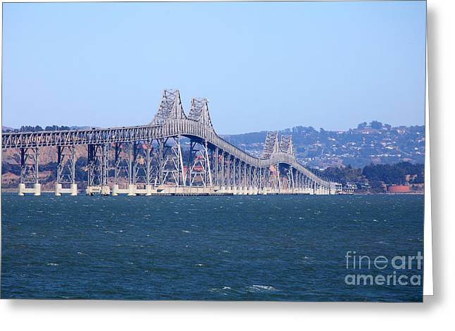 Richmond Bridge Greeting Cards - Richmond-San Rafael Bridge in California 5D29480 Greeting Card by Wingsdomain Art and Photography