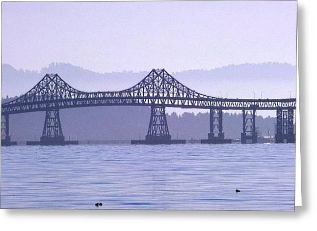 Richmond-san Rafael Bridge Greeting Cards - Richmond San Rafael Bridge Greeting Card by Michael Bates