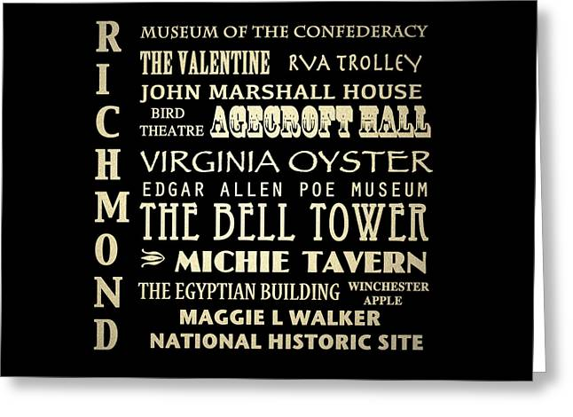 Egyptian Theatre Greeting Cards - Richmond Virginia Greeting Card by Patricia Lintner
