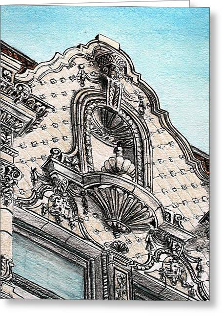 Spectacular Drawings Greeting Cards - Richness of lines Greeting Card by Danuta Bennett