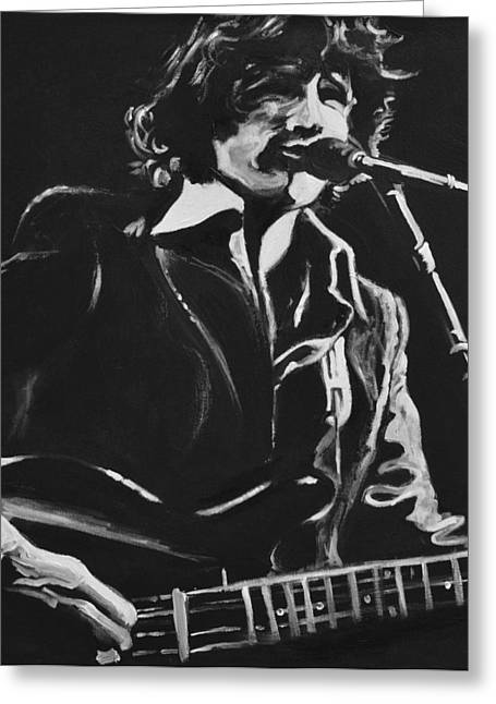 Bass Player Greeting Cards - Rick Danko Greeting Card by Melissa O