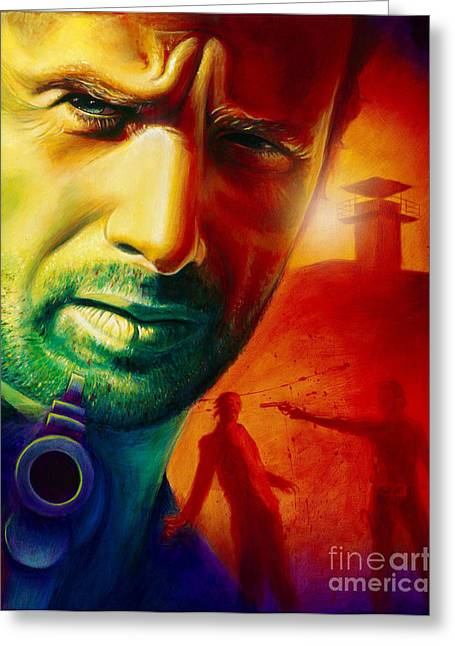 Rick Grimes Greeting Card by Scott Spillman