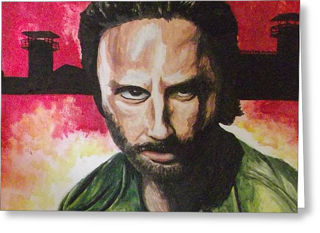 Rick Grimes Greeting Cards - Rick Grimes - The Walking Dead Greeting Card by Scott Dokey