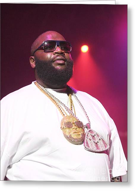 Rick Ross Greeting Cards - Rick Ross Greeting Card by Front Row  Photographs