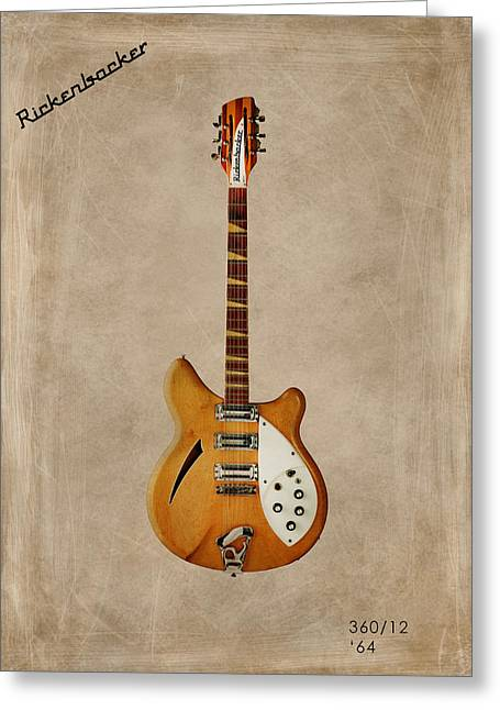 Rock N Roll Photographs Greeting Cards - Rickenbacker 360 12 1964 Greeting Card by Mark Rogan