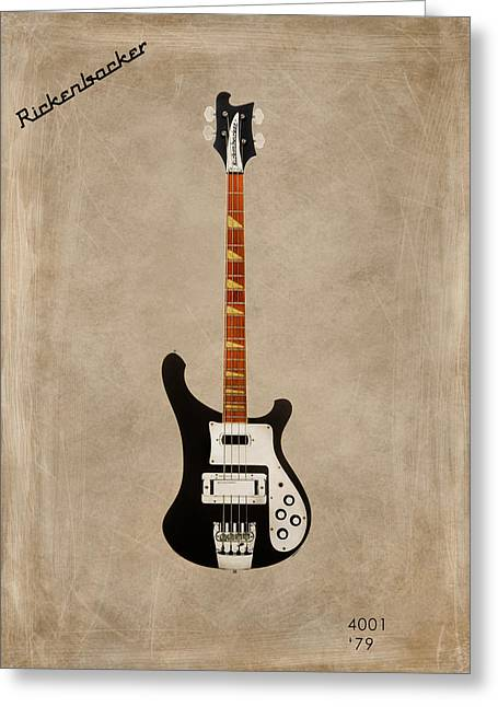 Rock N Roll Photographs Greeting Cards - Rickenbacker 4001 1979 Greeting Card by Mark Rogan
