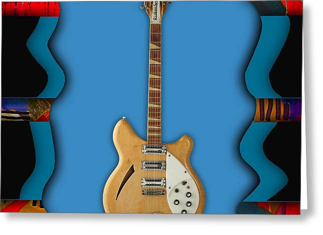 Pop Greeting Cards - Rickenbacker Guitar Collection Greeting Card by Marvin Blaine