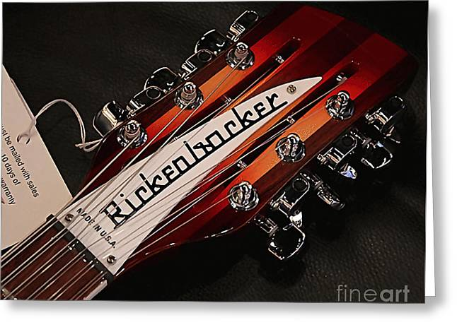 Color Image Greeting Cards - Rickenbacker Greeting Card by Marvin Blaine