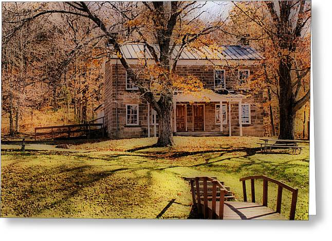 Indiana Autumn Greeting Cards - Rickenbaugh House Greeting Card by Sandy Keeton