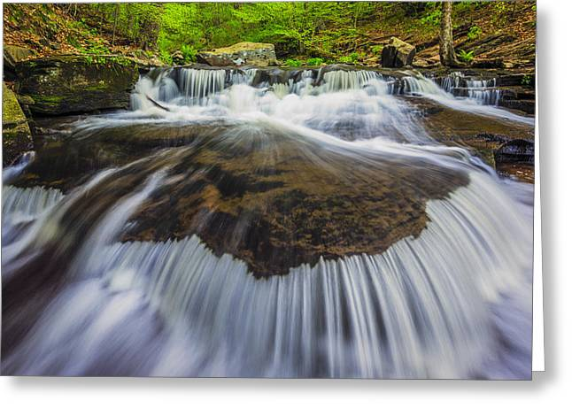 Waterfall Greeting Cards - Rivers Run Greeting Card by Mike Lang