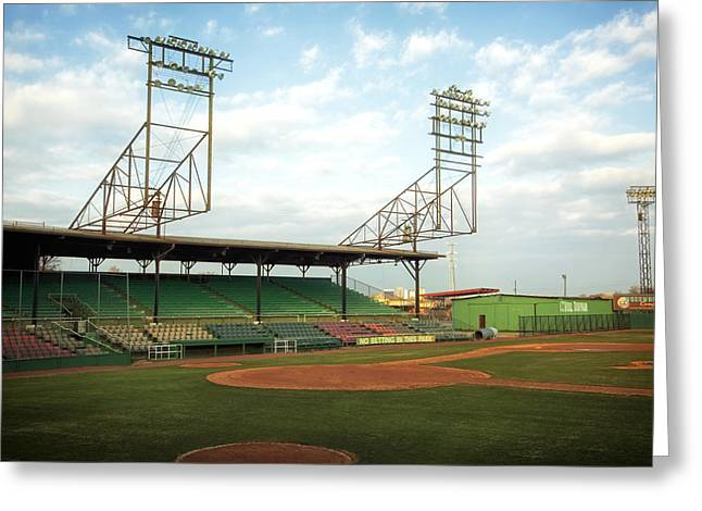 Grandstands Greeting Cards - Rickwood Field Birmingham Alabama Greeting Card by Mountain Dreams
