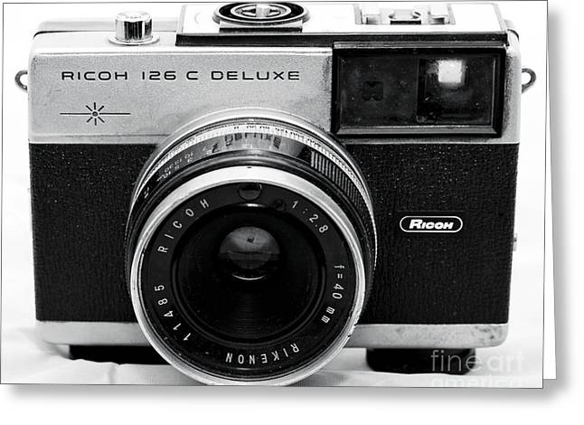 Rangefinder Greeting Cards - Ricoh 126 C Deluxe Greeting Card by John Rizzuto