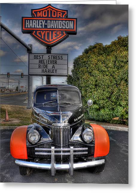 Stop Light Greeting Cards - Ride A Harley Greeting Card by Todd Hostetter
