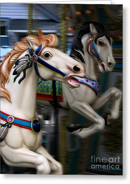Painted Ponies Greeting Cards - Ride a Painted Pony Greeting Card by Colleen Kammerer
