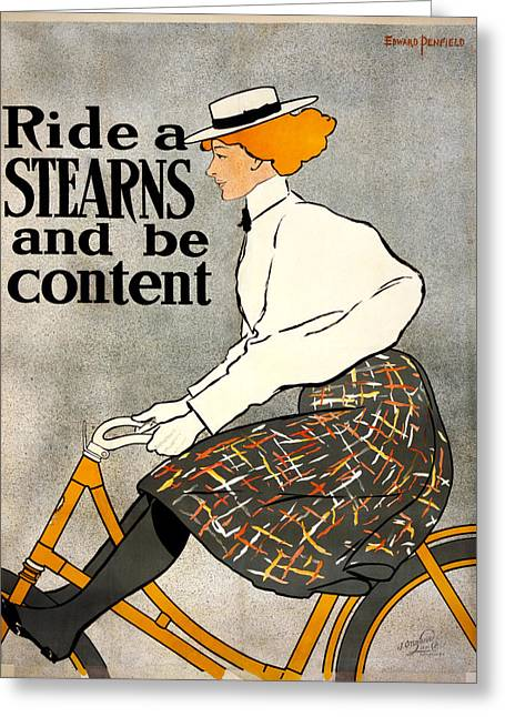 Stearns Greeting Cards - Ride a Stearns  Greeting Card by Nomad Art And  Design