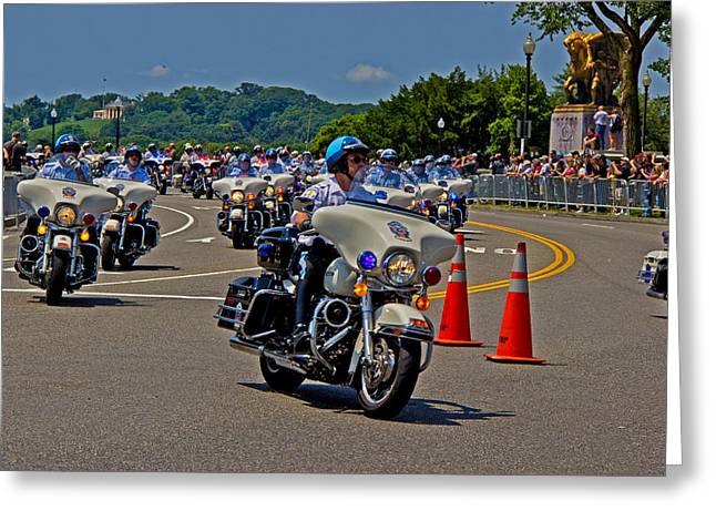Division Greeting Cards - Ride for Veterans Greeting Card by Tom Gari Gallery-Three-Photography