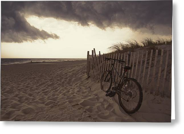 Summer Storm Greeting Cards - Ride Home Now Greeting Card by Ron Schiller