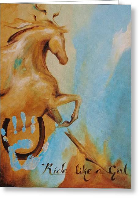Empowerment Greeting Cards - Ride Like A Girl 5 Greeting Card by Dina Dargo