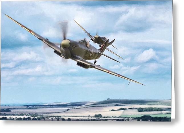 Supermarine Greeting Cards - Ride Like The Wind Greeting Card by Peter Chilelli