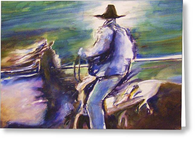 Therese Fowler-bailey Greeting Cards - Ride Like the Wind Greeting Card by Therese Fowler-Bailey