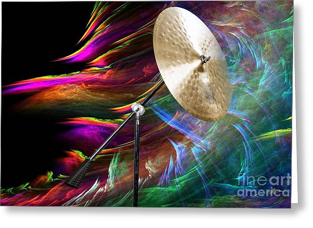 Ride Cymbal Greeting Cards - Ride or Suspended Cymbal in Color 3241.02 Greeting Card by M K  Miller