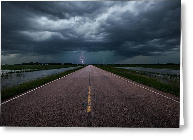 Severe Greeting Cards - Ride the Lightning Greeting Card by Aaron J Groen