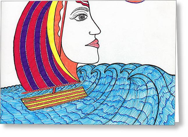 Ride the Waves My Lady on the Bay                                           Greeting Card by Michael Friend