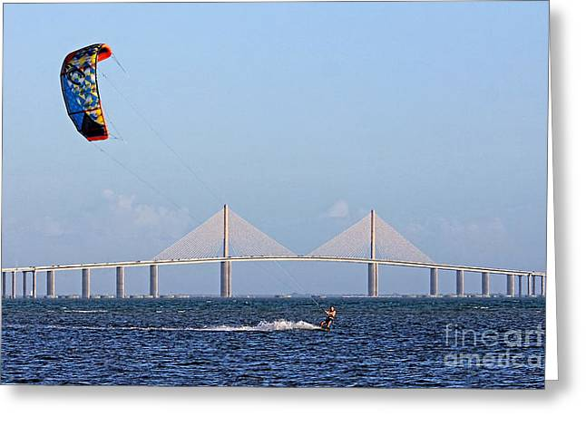 Kiteboarding Greeting Cards - Ride The Wind Greeting Card by HH Photography