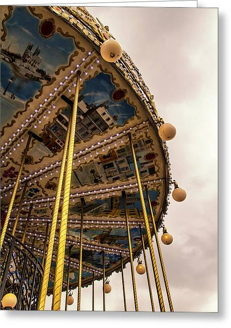 Whirligig Greeting Cards - Ride with me in Paris Greeting Card by Nomad Art And  Design