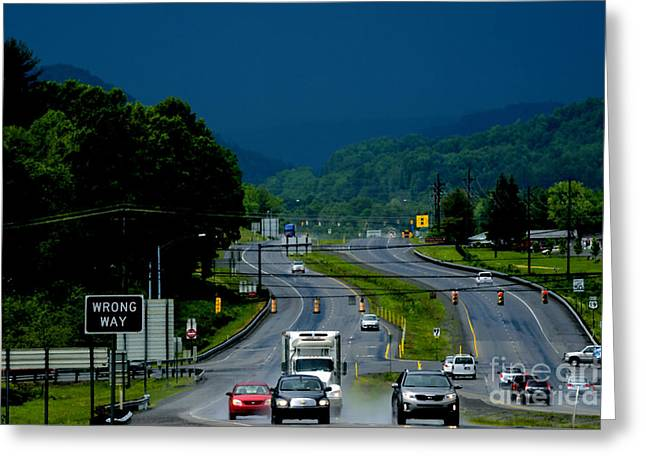 Nicholas County Greeting Cards - Riders on the Storm  Greeting Card by Thomas R Fletcher