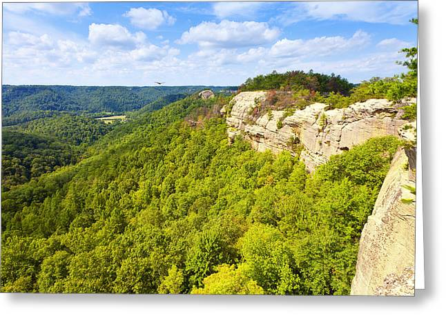 Recently Sold -  - Mountain Valley Greeting Cards - Ridge Top View Greeting Card by Alexey Stiop