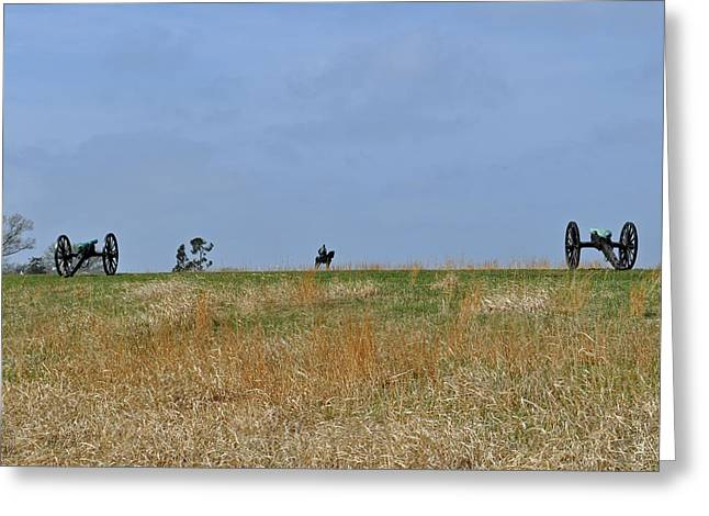 Stonewall Greeting Cards - Ridgeline with Stonewall Jackson at Manassas National Battlefield Park Greeting Card by Bruce Gourley