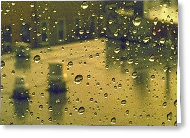 Ridgewood wet with rain St Matthias Roman Catholic Church Greeting Card by Mieczyslaw Rudek Mietko