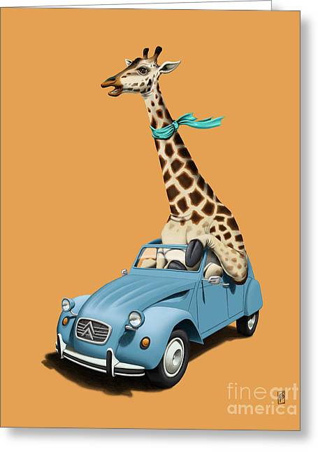 Driving Mixed Media Greeting Cards - Riding High Colour Greeting Card by Rob Snow
