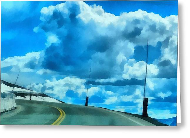 Elevation Digital Art Greeting Cards - Riding High On Trail Ridge Road Greeting Card by Dan Sproul